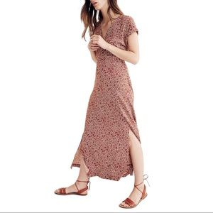 Madewell Woodblock Floral Maxi Dress